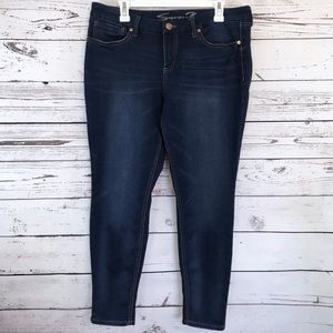 EUC Seven7 dark skinny jean crop legging pants 12